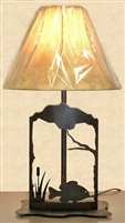 Metal Art Table Lamp- Pan Fish Design
