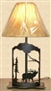 Metal Art Table Lamp- Elk Design