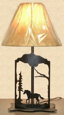 Metal Art Table Lamp- Horse Design