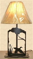 Metal Art Table Lamp- Flying Duck Design