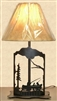 Metal Art Table Lamp- Fisherman Design