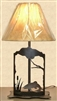 Metal Art Table Lamp- Trout Design