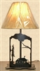 Metal Art Table Lamp- Cabin Design