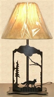 Metal Art Table Lamp- Fox Design