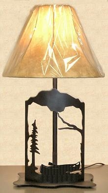 Metal Art Table Lamp- Canoe Design