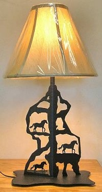 Scenery Style Table Lamp- Horse Design