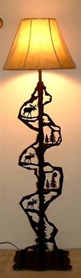 Scenery Style Floor Lamp- Moose Design