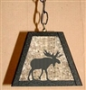 Rustic Pendant Swag Light- Moose Design