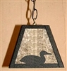 Rustic Pendant Swag Light- Loon Design