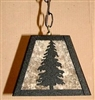 Rustic Pendant Swag Light- Pine Tree Design