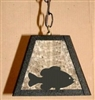 Rustic Pendant Swag Light- Pan Fish Design