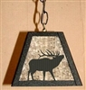 Rustic Pendant Swag Light- Elk Design