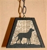 Pendant Swag Light- Lab Retriever Design
