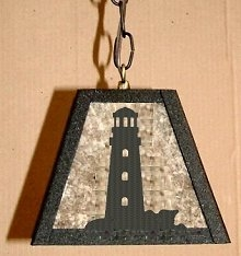 Rustic Pendant Swag Light- Lighthouse Design