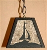 Rustic Pendant Swag Light- Sailboat Design