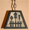 Rustic Pendant Swag Light- Birdhouse Design