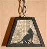 Rustic Pendant Swag Light- House Cat Design