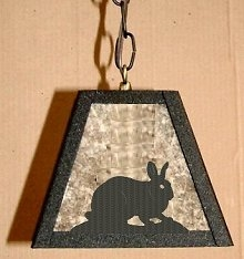 Rustic Pendant Swag Light- Rabbit Design