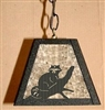 Rustic Pendant Swag Light- Raccoon Design