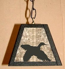 Rustic Pendant Swag Light- Flying Duck Design
