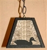Rustic Pendant Swag Light- Sitting Duck Design