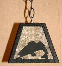 Rustic Pendant Swag Light- Walleye Design