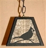 Rustic Pendant Swag Light- Cardinal Design