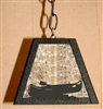 Rustic Pendant Swag Light- Canoe Design