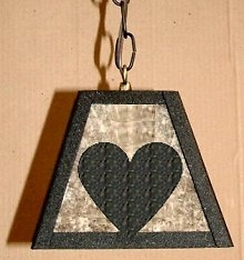 Rustic Pendant Swag Light- Heart Design
