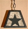 Rustic Pendant Swag Light- Star Design