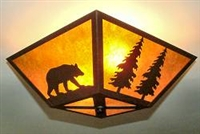 Square Ceiling Light- Bear and Tree Design