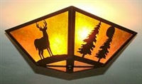 Square Ceiling Light- Deer and Tree Design