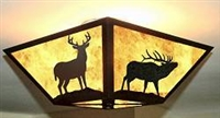Square Ceiling Light- Elk and Deer Design