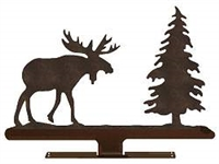 Mailbox Top- Moose with Tree Design