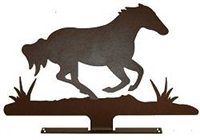 Mailbox Top- Galloping Horse Design
