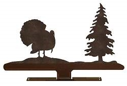 Mailbox Top- Turkey with Tree Design