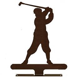 Mailbox Top- Golfer Design