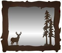 Big Horizontal Mirror- Deer Design