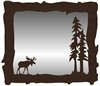 Big Horizontal Mirror- Moose Design