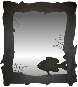 Mirror- Pan Fish Design