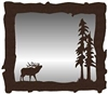 Big Horizontal Mirror- Elk Design