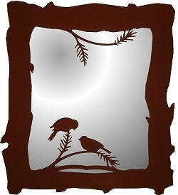 Mirror- Chickadee Design