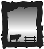 Mirror- Cow Design