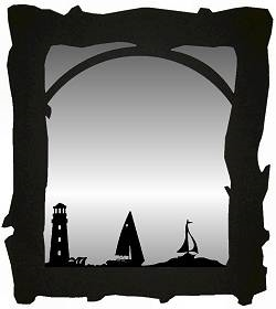 Mirror- Lighthouse and Sailboat Design