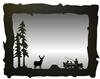 Big Horizontal Mirror- Fisherman and Deer Design