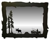 Big Horizontal Mirror- Fisherman and Moose Design