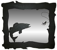 Horizontal Mirror- Walleye Design