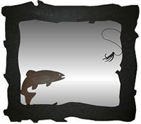 Horizontal Mirror- Trout Design
