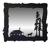 Big Horizontal Mirror- Horse and Cabin Design