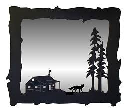 Big Horizontal Mirror- Fox and Cabin Design